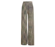 Wide Leg Pants mit Lurex-Fäden