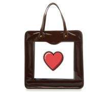 Shopper Rainy Day Heart aus Lackleder