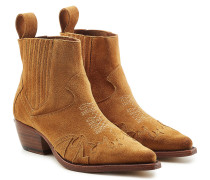 Ankle Boots Erin aus Veloursleder im Cowboy-Stil