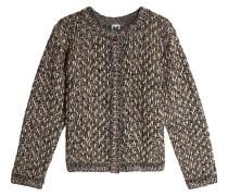 Gemusterte Blazer-Jacke aus Tweed