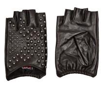Fingerlose Handschuhe aus Leder mit Nieten
