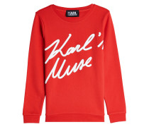 Bedrucktes Sweatshirt Karl's Muse aus Baumwolle
