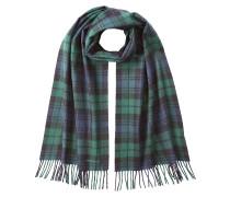 Karierter Schal aus Schurwolle und Angora