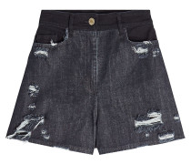 High Waist Shorts aus Denim