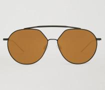 Sonnenbrille mit Doppelsteg und Verspiegelten Gläsern