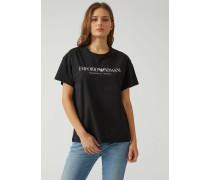 Unisex-t-shirt Aus Baumwolljersey Mit Print
