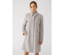Mantel aus Wolltuchmischung mit Klassischem Kragen