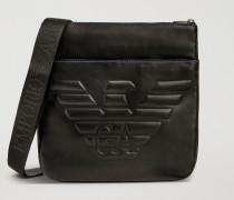 Crossbody Bag aus Kunstleder mit Maxi-logo