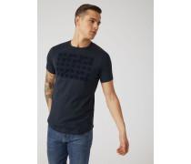 Jersey-t-shirt mit Optical-flockprint