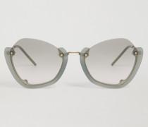 Sonnenbrille Mit Halbumlaufender Fassung