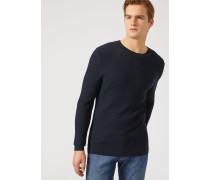 Pullover Aus Leichtem Jacquard- Und Baumwollstrick