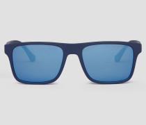 Rechteckige Brille und Sonnenbrillen-clip