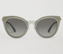 Cat-eye-sonnenbrille Aus Transparenter Nylonfaser