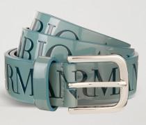Gürtel aus Lackleder mit Emporio Armani Logo