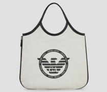 Hobo Bag aus Canvas mit Seitlichem Reißverschluss