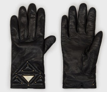 Handschuhe aus Lammleder mit Nietenbesatz