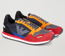 Sneakers Aus Wildleder Und Funktionsgewebe