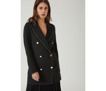 Zweireihiger Mantel aus Wolltuch mit Goldenen Profilen