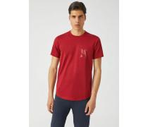T-shirt aus Merzerisiertem Baumwolljersey mit Logo