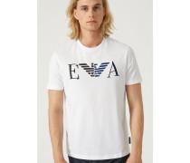 T-shirt aus Jersey mit Ea Logo-print und -stickerei