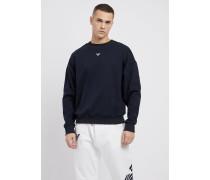 Sweatshirt aus Baumwoll-interlock mit Emporio-armani-logo