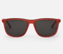 Rechteckige Sonnenbrille Mit Kontrastdetail Am Steg