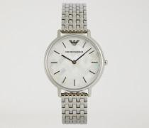 Uhr Aus Rostfreiem Edelstahl Mit Mosaik-muster 11112