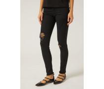Skinny-jeans Aus Elastischem Baumwolldenim