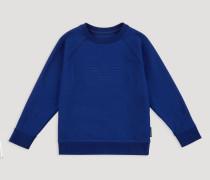Sweatshirt aus Baumwollstretch mit Ea-logoprägung