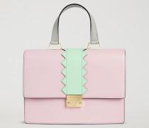 Handtasche Aus Glattem Leder
