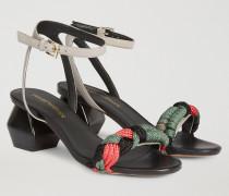 Sandalen Mit Band Aus Bunter Kordel