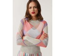 Rundhals-pullover Im Colourblock-stil