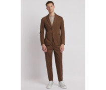 Einreihiger Anzug in Modern Fit aus Baumwolle