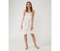 Kleid Aus Seidengeorgette Mit Print