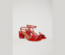 Lack-sandalen Mit Applikation