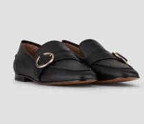 Loafers aus Leder mit Riemen und Schließe