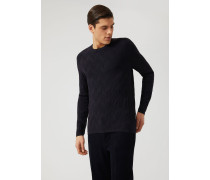 Pullover Mit Durchgehendem Jacquard-muster