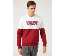 Zweifarbiges Sweatshirt Aus Einem Baumwollmix Mit Logo