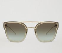 Avantgardistische Sonnenbrille aus Metall mit Verlaufsgläsern