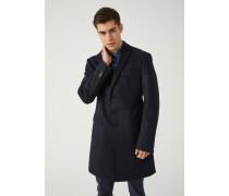 Einreihiger Mantel Modern Fit Aus Schurwolle