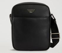 Crossbody Bag aus Kalbsleder mit Palmellato-prägung