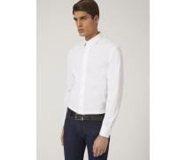 Slim Fit Hemd Aus Baumwollstretch