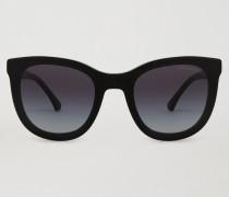 Rechteckige Lens Transparency Sonnenbrille aus Acetat