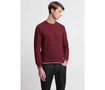 Pullover aus Reiner Baumwolle in Streifenmuster