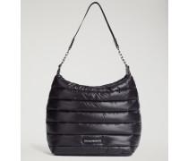 Gepolsterte und Gesteppte Hobo Bag mit Tragriemen mit Emporio Armani-logo