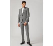 Einreihiger Anzug aus Karierter Wolle