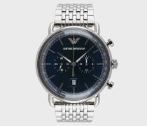 Edelstahl-chronograph