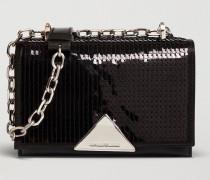 Mini Crossbody Bag aus Satin mit Pailletten