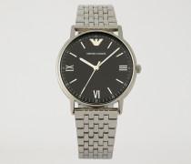 Uhr aus Edelstahl mit Geflochtenem Gliederarmband
