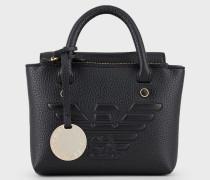 Mini-handtasche mit Maxi-relieflogo und Umhängeriemen